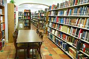 Research library at the San Antonio Genealogical and Historical Society in San Antonio, Texas